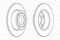Genuine FERODO Rear Axle Brake Discs (Pair) DDF929C