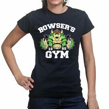 Bowsers Gym Fitness Training Running Mario Body Building Golds Womens T shirt