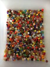 150+ Mixed Colour Seed Glass Beads On Fishing Line.1-3mm In Size .random Colours
