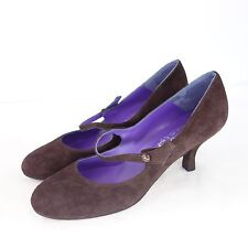 Uad Medani Shoes Mary Jane court shoes real suede size 39,5 Brown NP 179 NEW
