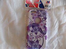 Insten Hibiscus Flowers Hybrid Case for iPhone 6/6S/Plus - Purple/White