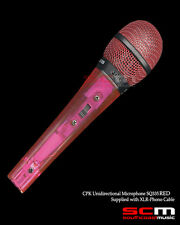 MICROPHONE HANDHELD DYNAMIC UNIDIRECTIONAL TRANSPARENT RED  BODY WITH CABLE