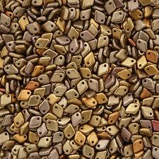 Czech Dragon® Scale 1.5x5mm Glass Seed Beads Metallic Mix 9g (M35/4)