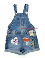 GIRLS FLAMINGO SEQUIN DENIM SHORTS DUNGAREE GIRLS CLOTHES OUTFITS 3-7 YEARS