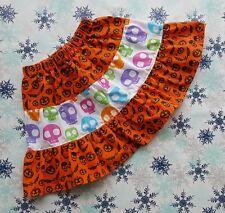 Nuevo Chicas Funky Halloween Calaveras volantes falda de volantes. 6-9 Años. único. Gótico Emo