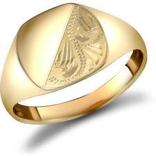 Diamond 9 Carat Signet Rings for Men