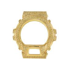 Casio G shock DW-6900 Stainless Steel Watch Bezel Large stone CZ lab DIA