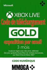 Abonnement Xbox Live Gold 3 mois - Xbox Live - Code jeu à télécharger - FR