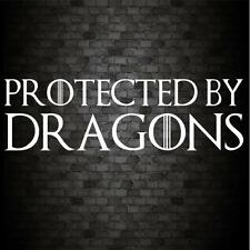 PROTECTED BY DRAGONS Funny Car Bumper GAME OF THRONES JDM Vinyl Decal Sticker