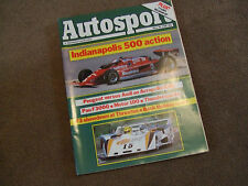 Autosport 30 May 1985 Indy 500 Acropolis Rally Escort RS Turbo Test Pau F3000