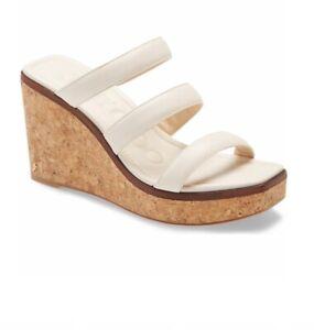 Jimmy Choo Athenia Leather Cork Wedge Sandals Size 36 /6