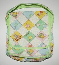 Cabbage Patch Kid Vintage Coleco Doll Diaper Bag Quilted White Green Balloons