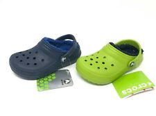 Crocs Classic Lined Clog CHOOSE SIZE Volt Green or Navy Blue NEW