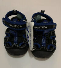 Boys Nautica Toddler Infant Wallport Sandals Size 5 Black & Blue New