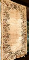 RARE ANTIQUE ISLAMIC OTTOMAN GOLD EMBROIDERED & EMBEDDED BIRD TEXTILE HANGING