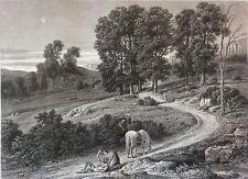 Le samaritain d'après Louis Cabat (1813-1883) gravé par Louis Aubert