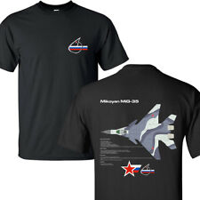 Mikoyan MiG-35 Fulcrum-F Russian Air Force Jet Fighter BLACK T-SHIRTS S-3XL