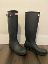 Hunter Original Women's Tall Rain Boots - Black, Size US 8, EU39