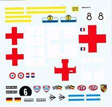 decals pour Dinky: ambulance Carrier, Alfa Roméo, Porsche