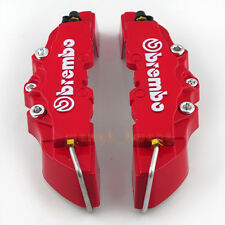 HOT RED 3D Brembo Style Disc Brake Caliper Cover 2pcs Rear New