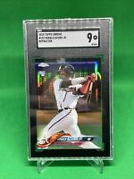 2018 Topps Chrome Ronald Acuna Jr Refractor Rookie Card SGC 9 Atlanta Braves RC