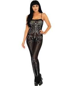 Semi-Opaque Nylon Skeleton Bodystockings - Leg Avenue 89203