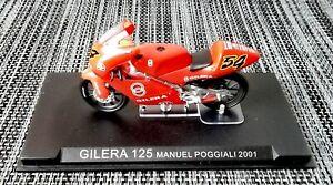 Ixo Altaya, GILERA 125 Manuel Poggiali 2001, Motorrad Motorbike, 1:24, Moto