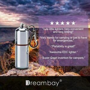 2 Pcs EDC Peanut Waterproof Keychain Lighter for Fire Starter Survival Emergency