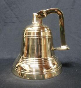 Solid Brass Wall Mount Nautical Ships Bell NEW IN BOX Made in India
