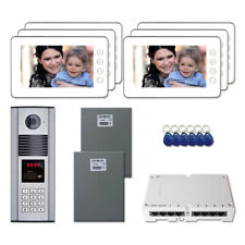 """Office Entry Door Panel Video Intercom System Kit with (6) 7"""" Color Monitors"""
