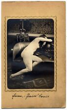 Naked woman on sofa Wien? Like the style of Kertész Original photo 1920c L544