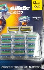 Gillette Fusion Proglide Blades 14 Cartridges FACTORY SEALED - New - SHIPS FREE