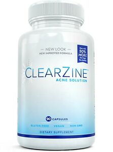 CLEARZINE: Most Powerful Acne Pills for Teens & Adults, Clear Skin Vitamins