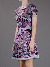 McQ by Alexander McQueen lilic beautiful pattern wool skater skirt dress