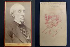 Lopez, Paris, Ernest Legouvé, écrivain Vintage carte de visite, CDV. Gabriel J