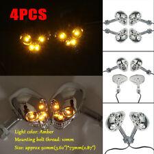 4pcs 4 LED Universal Motorcycle Skull Turn Signals Light Lamp Indicator Blinker