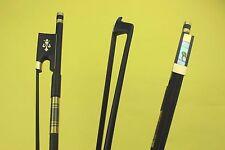 10 pcs PRO 4/4 Carbon fiber violin bows Ebony Frog black horse hair