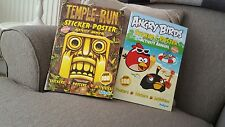 1 TEMPLE RUN & 1 ANGRY BIRDS STICKER &  ACTIVITY BOOKS WITH POSTERS BUY FOR XMAS