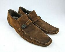 Mark Nason U Rock Lounge Slip On Brown suede driving Loafers Shoes Rare Men's 14