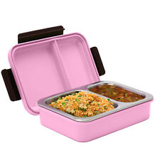 Signora Ware Duo Star Stainless Steel Lunch Box Leak & Crack proof  pink