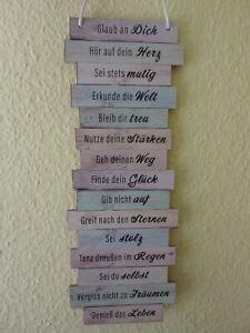 Spruchtafel Plankenschild Wanddeko Wandschild in Retro Optik - Glaub an Dich