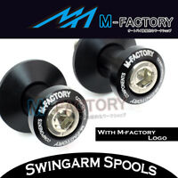 CNC BLACK 8mm Swingarm Spools Bobbins Fit Suzuki GSR750 10 11 12 13 14 15