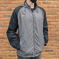 Nike Grey Windbreaker - Black Sleeve - Mens Size Medium - Outdoor Active Jacket