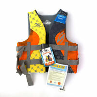 NEW L / XL Stearns Hydroprene Orange Life Vest Wakeboard Jacket