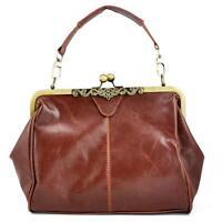 Fashion Womens Retro Vintage Satchel PU Leather Bag Shoulder Handbag Tote Bag UK