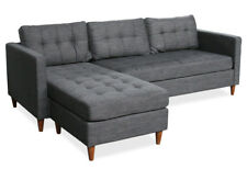 KMH® Ecksofa grau Eckcouch Wohnzimmercouch Sofa Couch Wohnzimmersofa Ruhemöbel