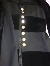 Escada haute couture costume Tailleur veste et jupe NOIR avec strass T40
