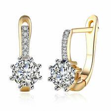 2.50 Ct Round Cut Diamond Drop Dangle Earrings 14k Yellow Gold Finish