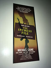 IPCRESS FILE Vintage Movie Trade Ad 1965 Michael Caine Harry Palmer Spy Poster