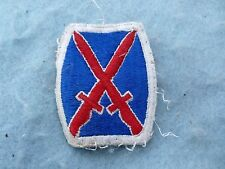 WWII Army Patch 10th Mountain Division Mountaineers Embroidered Italy WW2